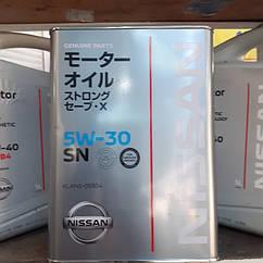 Оригінальна ниссановское масло 5w-30 SN (4L)/(1L).
