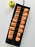 Многоразовые мешочки для продуктов XL, эко мешочки, сетки для овощей и фруктов 8 шт. оранжевый (+ органайзер)