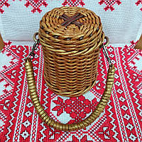 Банки 0,5 л для освячення води, для зберігання горіхів, сухофруктів і т. д. плетені з лози, фото 1