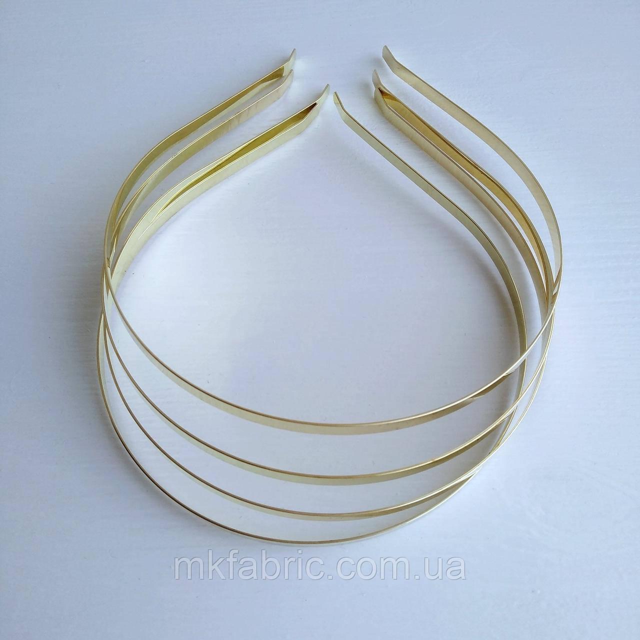 Ободок (обруч) металлический для волос, 4,5 мм, ЗОЛОТОЙ