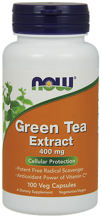 NOW Foods Green Tea Extract 400 mg 100 VCaps, фото 2