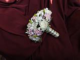 Свадебный букет-дублер молочный с розовым, фото 2