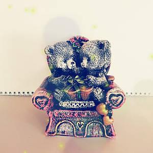 Сувенир-копилка Мишки Тедди в кресле 13 см