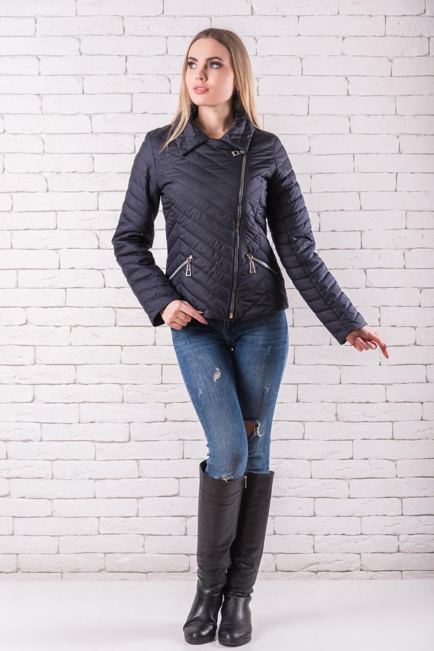 Женская демисезонная куртка  молодежная 42-48 темно-синий