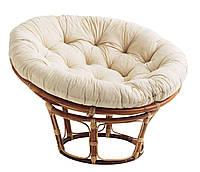 Кресло плетеное круглое папасан из ротанга с подушкой (диаметр 100 см), фото 1