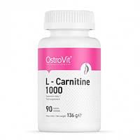Л-карнитин для снижения веса OstroVit L-CARNITINE 1000 (90 tabs)