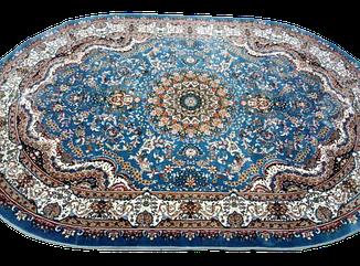 Ковер Отта Вискоз Голубой Овал 1166 размер 200х300 см, фото 2