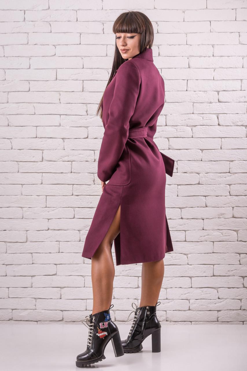 Демисезонные пальто женское  48-50 марсала
