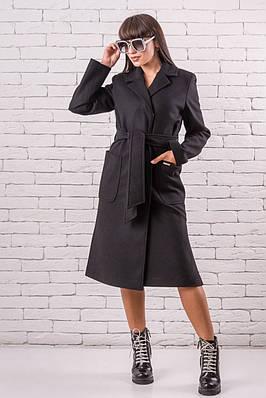 Женское пальто весна  кашемировое  48-50 черный