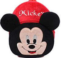 Рюкзак детский плюшевый на 2-3 года Микки Маус