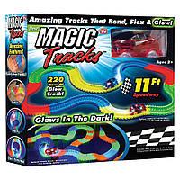 🔝 Детская игрушечная дорога Magic Tracks, 220 деталей, светящаяся + машинка, , Конструкторы и гоночные треки