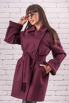 Кашемировое женское пальто  весенние 44-50 марсала