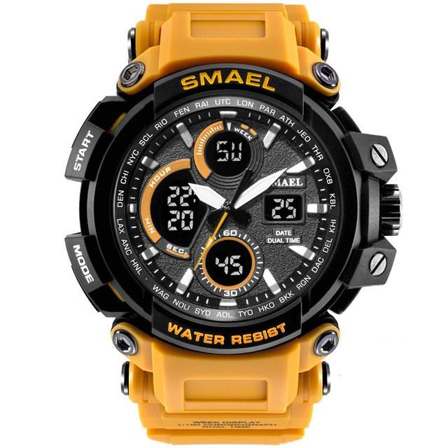 Smael 1708 оранжевые мужские спортивные  часы