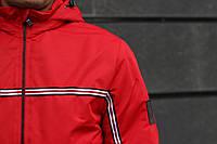 Куртка мужская демисезонная до + 0*С  Т2 X red / ветровка теплая весенняя осенняя