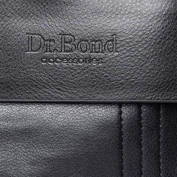Сумка Чоловіча Планшет штучна-шкіра DR. BOND GL 305-2 чорна, фото 2
