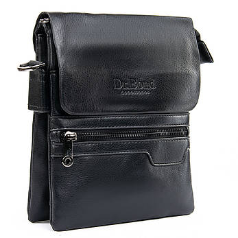 Чоловіча сумка-планшет штучна-шкіра чорна DR. BOND GL 303-2 чорна, фото 2