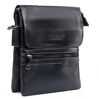 Мужская сумка-планшет иск-кожа черная  DR. BOND GL 303-2 черная, фото 2