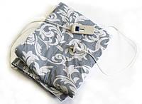 Электро простынь, 150x120 см. (в полоску с цветами, черная) Это экономное, электроодеяло Трио   🎁%🚚, Электропростыни и одеяла с подогревом