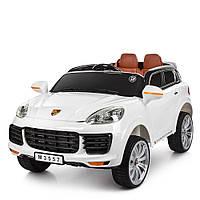Детский электромобиль Porsche M 3557 EBLR Порше кожаное сиденье 2 мотора