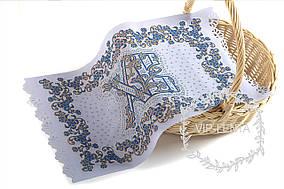 Пасхальная салфетка обемная ХВ синим