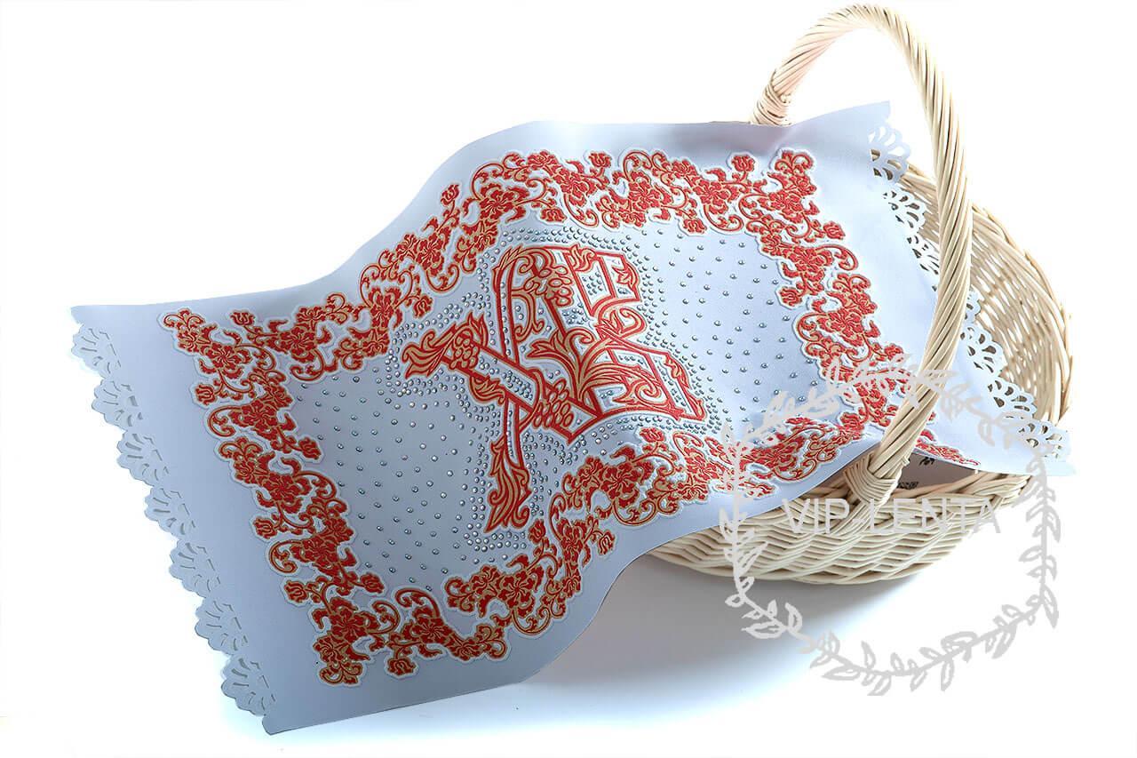 Красная пасхальная салфетка ХВ