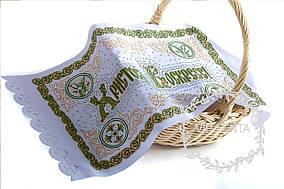 Зеленая пасхальная салфетка-икона