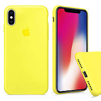 Чехол накладка xCase для iPhone X/XS Silicone Case Full лимонный
