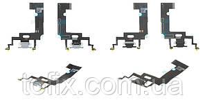 Шлейф для iPhone XR, коннектора зарядки - плата зарядки, с разъемом зарядки и микрофоном, оригинал