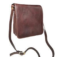 Стильная мужская сумка кожаная коричневая Италия Bottega Carele
