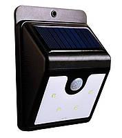 Уличный LED светильник с датчиком движения на солнечной панели Ever Brite (Эвер Брайт) 4 LED , Уличные светильники