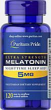 Мелатонін Puritan's Pride Melatonin 5 mg 120 caps