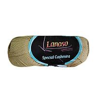 Пряжа Lanoso Special Cashmira 304 бежевая