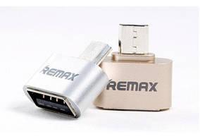 Адаптер OTG Remax MicroUSB Gold (RA-OTG)