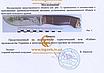 Нож охотничий для туши и рыбы КАБАН -1. Клинок-сталь 50X14 MF (с рисунком). Рукоять-дерево Подарочный, фото 4