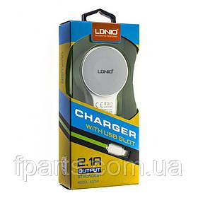 СЗУ LDNIO (DL-A2269) 5V/2.4A 2USB + Lightning