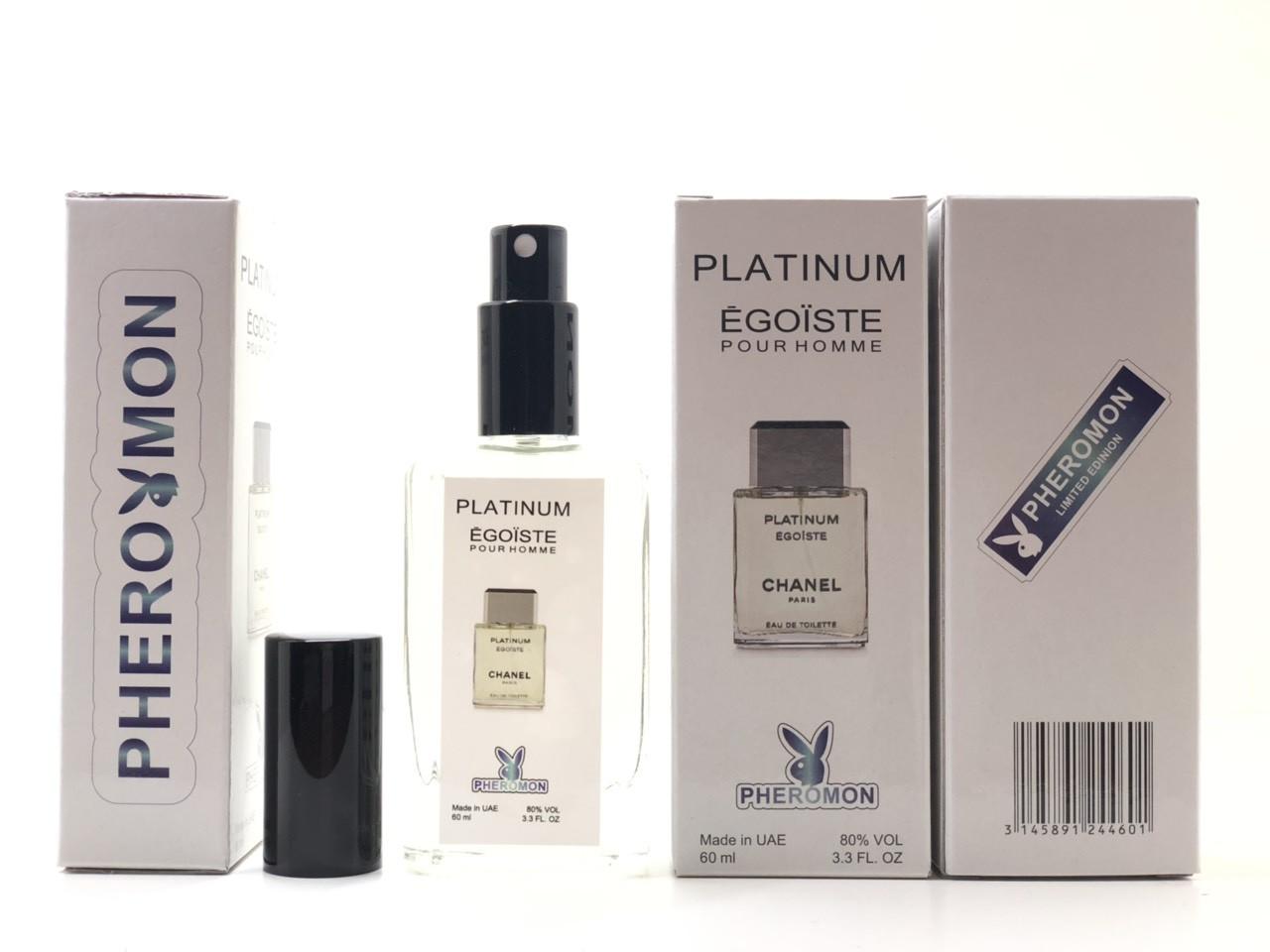 Тестер в подарочной упаковке CHANEL PLATINUM EGOISTE 60 мл в цветной упаковке с феромонами реплика