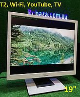 "19"" Монитор- Телевизор T2 с IP TV, YouTube, Wi-Fi и под кабельное цифровое ТВ"