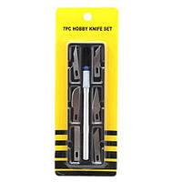 Скальпель со сменными лезвиями 7 в 1 Hobby knife set 7PC