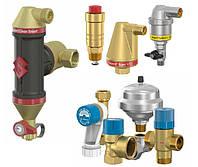 Воздухоотводчики, сепараторы воздуха и шламоуловители, термостат. краны Flamco, Watts, Giacomini