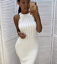 Платье резинка трикотажное с золотыми пуговицами, фото 2