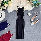 Платье резинка трикотажное с золотыми пуговицами, фото 6