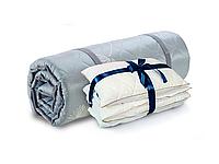Ортопедический топпер Ролл Ап Зеленый чай + одеяло + подушка в ПОДАРОК  80х200 см