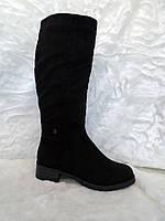 Сапоги женские зимние, чёрные, размер 36-39