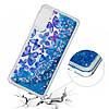 Чехол накладка для Samsung Galaxy A30S A307F силиконовый Aqua Series, Синие бабочки, фото 3