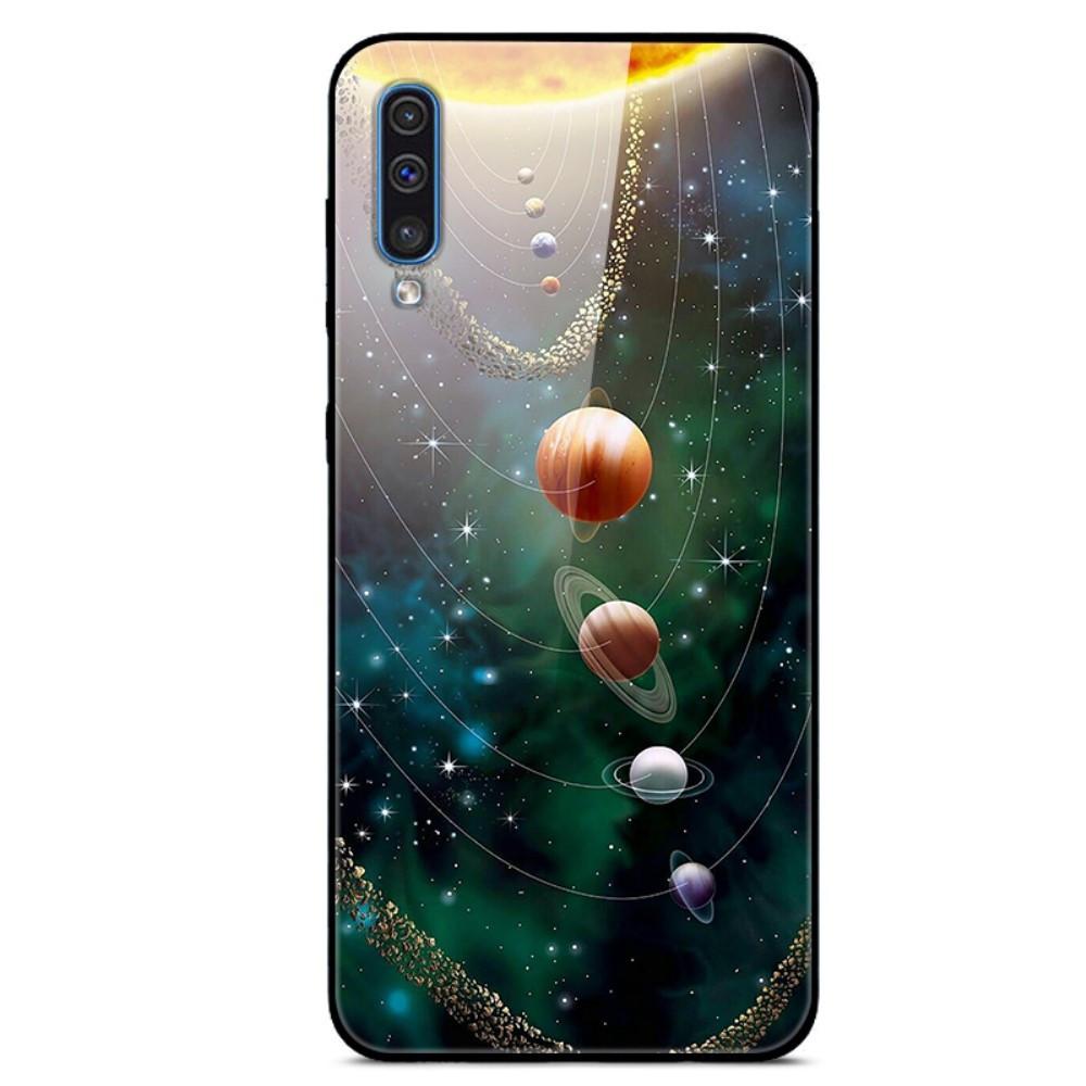 Чехол накладка для Samsung Galaxy A30S A307F с зеркальной поверхностью, Planets
