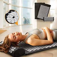 Коврик + подушка (валик) аппликатор Кузнецова Массажный массажер для спины/ног OSPORT (apl-011)