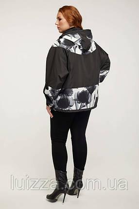 Женское пончо демисезонное 54-68р черный, фото 2