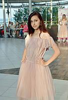 Платье выпускное нежно-розовое