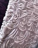 Велюровое стриженое одеяло покрывало 200*240, фото 5