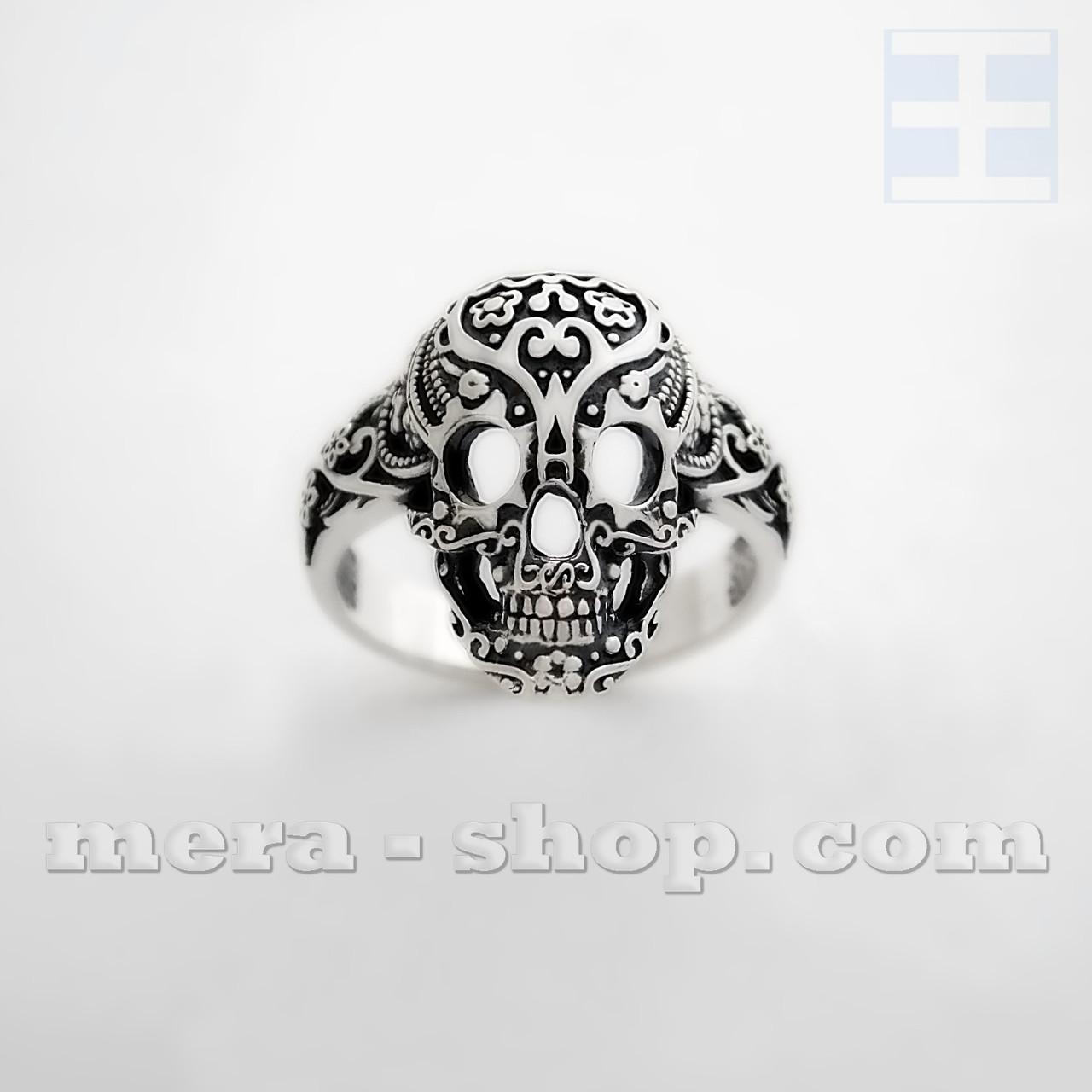 Перстень с Черепом из серебра 925 пробы